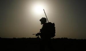 A British soldier in Helmand