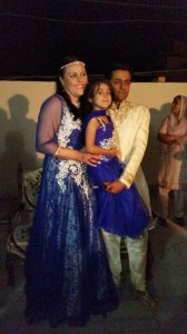Me raj and Lilliah blue dress blessing day